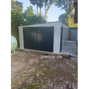 Einzelgarage-4x6m-in-Farbe-RAL9010&7016