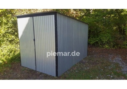blechgarage-2x3-in-ral9006