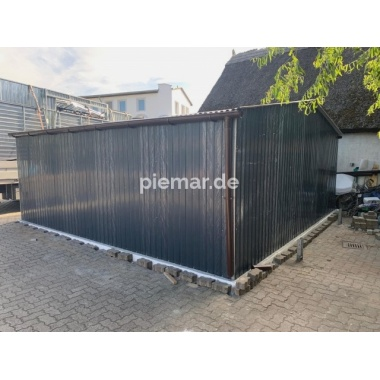Blechgarage-5,5x5,5m-in-Farbe-RAL7016
